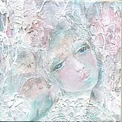 Картины и панно ручной работы. Ярмарка Мастеров - ручная работа Пано, картина- сказка, Дикая роза. Дева шиповник.. Handmade.