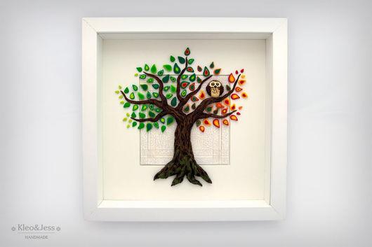 """Животные ручной работы. Ярмарка Мастеров - ручная работа. Купить Необычная объемная картина - панно """"Из весны в осень"""". Handmade."""