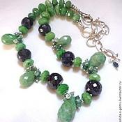 Necklace handmade. Livemaster - original item Elegant NECKLACE - EMERALDS, SAPPHIRES beads.. Handmade.