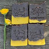 Косметика ручной работы. Ярмарка Мастеров - ручная работа Шоколадный апельсин, натуральное мыло с какао бобами. Handmade.