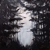 Картины и панно ручной работы. Ярмарка Мастеров - ручная работа В тёмном лесу. Handmade.