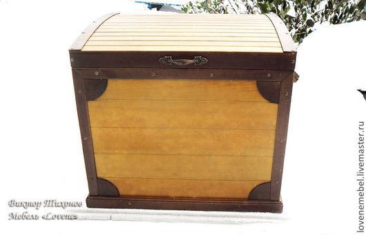 Сундук из дерева `Хранилище ценностей`, удобный, вместительный, стильный из массива сосны. Размер 70х60х50 см. С уважением, Виктор Тихонов Мебель `Lovene`