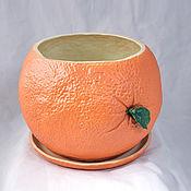 Цветы и флористика handmade. Livemaster - original item Flower pot Orange. Handmade.