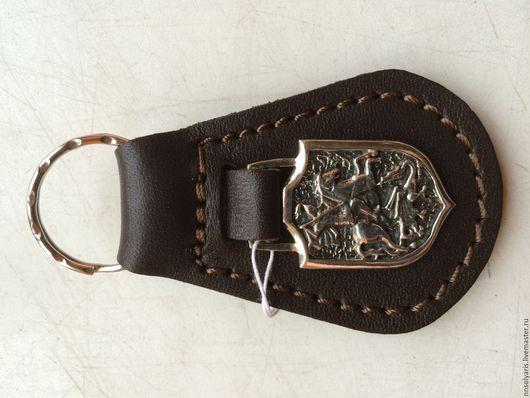 Брелок `Георгий Победоносец` Кожа, серебро 925. -6.5 гр. 1500 руб.