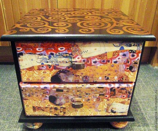 Мебель ручной работы. Ярмарка Мастеров - ручная работа. Купить Комод-прикроватная тумба. Handmade. Климт, мода на комоды