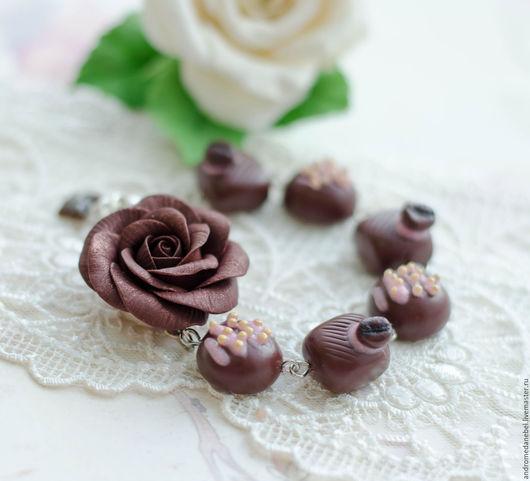 Браслеты ручной работы. Ярмарка Мастеров - ручная работа. Купить Браслет Шоколадные конфеты. Handmade. Стильное украшение, тюмень