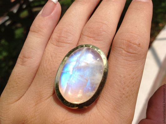 Кольца ручной работы. Ярмарка Мастеров - ручная работа. Купить Кольцо с натуральным лунным камнем. Handmade. Кольцо, Камни натуральные