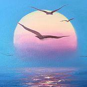 """Картины и панно ручной работы. Ярмарка Мастеров - ручная работа Картина маслом """"Море"""". Handmade."""
