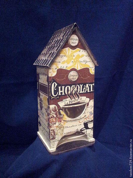 Чайный домик декупаж ЧАЙ С ШОКОЛАДКОЙ  входит в набор для кухни