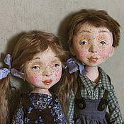 Куклы и игрушки ручной работы. Ярмарка Мастеров - ручная работа Куклы Полина и Кеша, подвижные будуарные. Handmade.