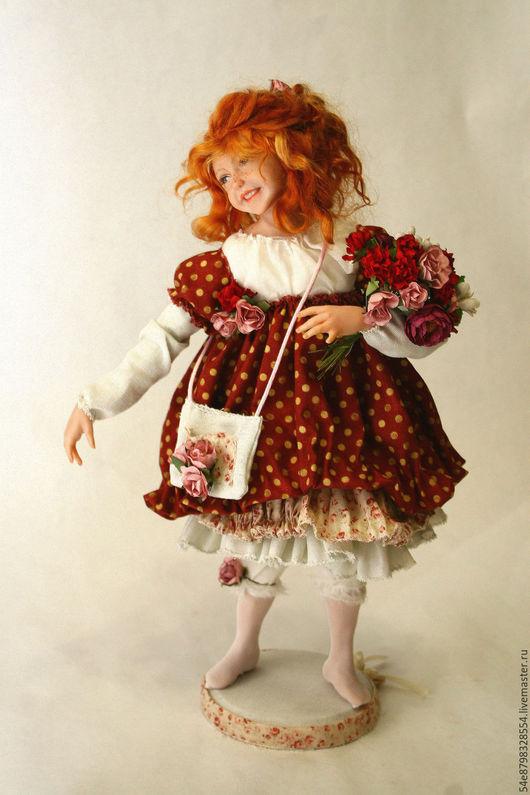 Коллекционные куклы ручной работы. Ярмарка Мастеров - ручная работа. Купить гороховое настроение. Handmade. Комбинированный, подарок на любой случай