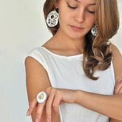 "Украшения handmade. Livemaster - original item Porcelain earrings ""Lace for Aelita"". Handmade."