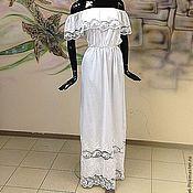 """Одежда ручной работы. Ярмарка Мастеров - ручная работа Платье с вышивкой ришелье """"Вышитая нежность"""" на несколько размеров. Handmade."""