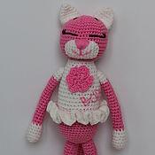 Куклы и игрушки ручной работы. Ярмарка Мастеров - ручная работа Вязанная кошечка аминеко. Handmade.