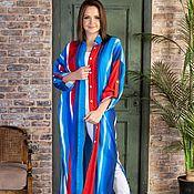 Одежда handmade. Livemaster - original item Bright viscose shirt dress. Handmade.