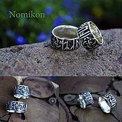 Свадебный салон handmade. Livemaster - original item Slavic engagement ring with svadebnom and runic circles. Handmade.