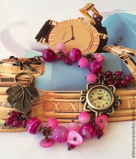 """Часы ручной работы. Ярмарка Мастеров - ручная работа. Купить Часы """"Лесные ягоды"""". Handmade. Украшения ручной работы"""