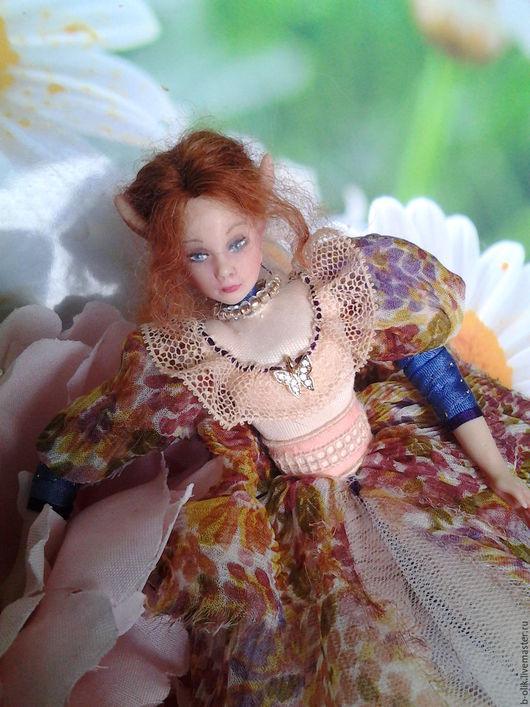 Коллекционные куклы ручной работы. Ярмарка Мастеров - ручная работа. Купить Феечка Эльф. Handmade. Комбинированный, кукла, авторская кукла