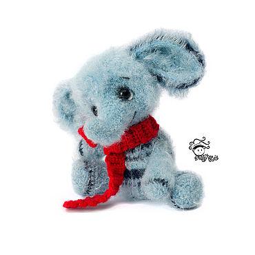 Куклы и игрушки ручной работы. Ярмарка Мастеров - ручная работа Слоник голубой. Handmade.