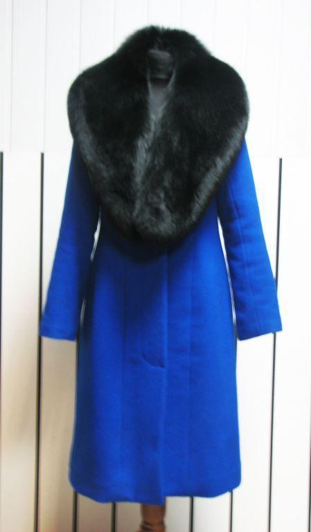 Верхняя одежда ручной работы. Ярмарка Мастеров - ручная работа. Купить Зимнее пальто с меховым воротником. Handmade. Пальто, однотонный