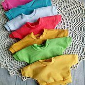 Одежда для кукол ручной работы. Ярмарка Мастеров - ручная работа Разноцветные яркие свитшоты для текстильных кукол. Handmade.