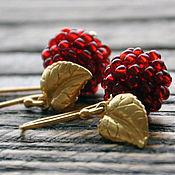 Украшения handmade. Livemaster - original item Silver plated earrings berries Raspberry. Handmade.