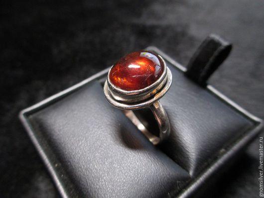 Кольца ручной работы. Ярмарка Мастеров - ручная работа. Купить Авторские кольца с хессонитом (гранатом) из Шри-Ланки. Handmade. Рыжий