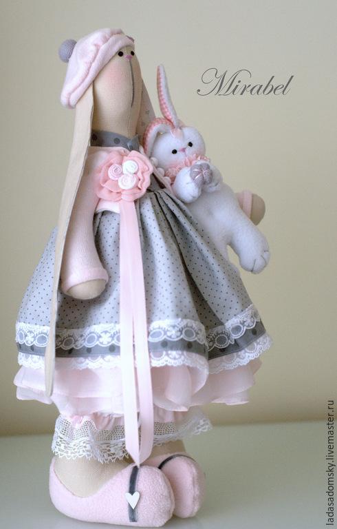 Игрушки животные, ручной работы. Ярмарка Мастеров - ручная работа. Купить Mirabel - текстильная зайка ( 39 см ). Handmade.