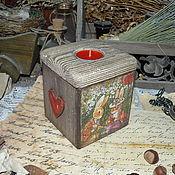 """Подарки к праздникам ручной работы. Ярмарка Мастеров - ручная работа """"Пикник"""" - коробочка - подсвечник. Handmade."""