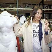Одежда handmade. Livemaster - original item Beige winter coat.. Handmade.
