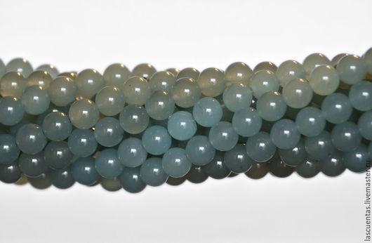 Для украшений ручной работы. Ярмарка Мастеров - ручная работа. Купить Тонированный нефрит голубой Aqua Blue Jade Rounds 10 мм. Handmade.