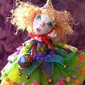 Куклы и игрушки ручной работы. Ярмарка Мастеров - ручная работа кукла Играющая  Коломбина яркая рыжая девочка 27см. Handmade.