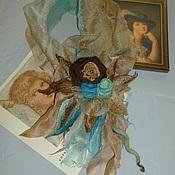 Аксессуары ручной работы. Ярмарка Мастеров - ручная работа шарф-цветок валяный Рококо. Апрель. Handmade.