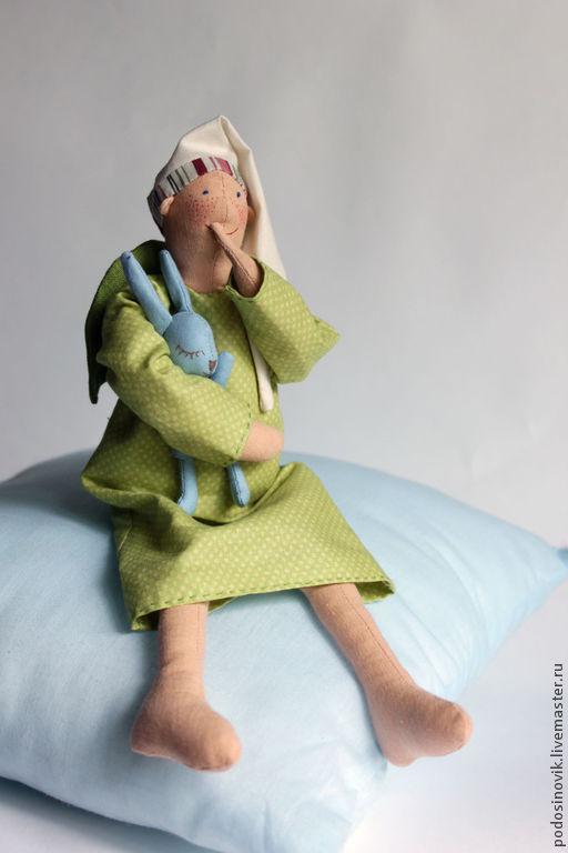 Человечки ручной работы. Ярмарка Мастеров - ручная работа. Купить Интерьерная текстильная кукла Добрый Сон. Handmade. Текстильная кукла