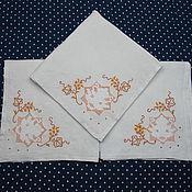 Винтаж handmade. Livemaster - original item Two napkins with embroidery. Handmade.