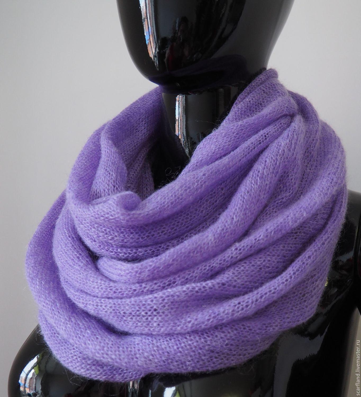 Вязание шарфа из кид мохера