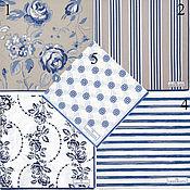 Материалы для творчества ручной работы. Ярмарка Мастеров - ручная работа 5 видов  Салфетки Green gate Дания синие. Handmade.