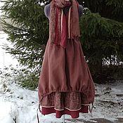 Одежда ручной работы. Ярмарка Мастеров - ручная работа №192 Льняная юбка бохо. Handmade.