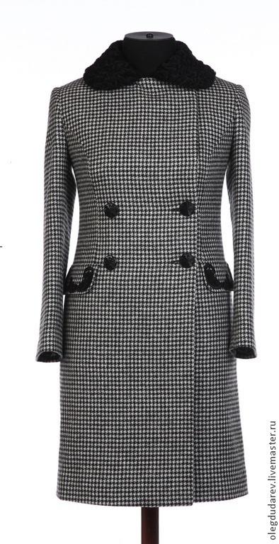 Верхняя одежда ручной работы. Ярмарка Мастеров - ручная работа. Купить Пальто осенне - зимнее. Handmade. Чёрно-белый