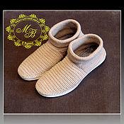 Обувь ручной работы handmade. Livemaster - original item knitted shoes. shoes knitted. autumn, beige.. Handmade.