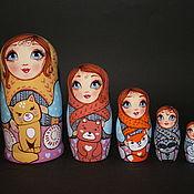 Куклы и игрушки handmade. Livemaster - original item Folk doll: Matryoshka Animals-Beanies. Handmade.