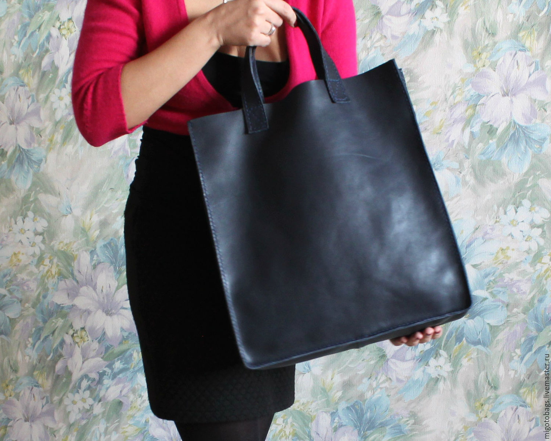 9b8e6778a903 Ярмарка Женские сумки ручной работы. Кожаная женская сумка-шоппер ручная  работа. Migoto_bags. Ярмарка