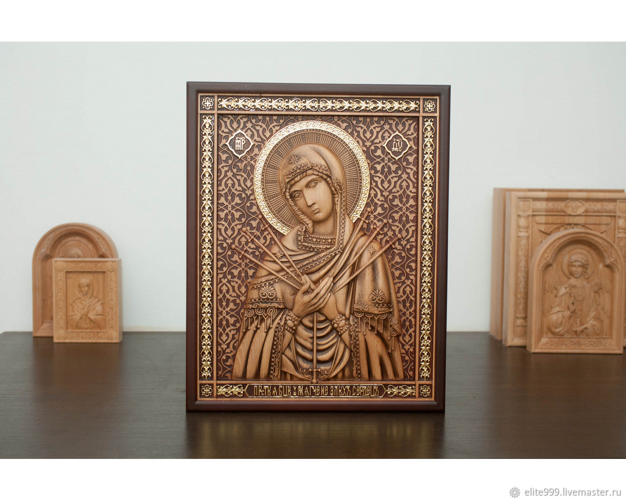 Theotokos Semistrelna (potal) size 400x500 mm, price 7000r., in stock t. 89236905757, Whats App 89087961144 Produced in Russia, made with a soul! izdereva55.ru