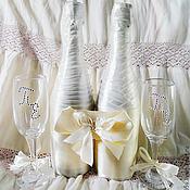 """Свадебный салон ручной работы. Ярмарка Мастеров - ручная работа Свадебный набор""""Шампань"""". Handmade."""