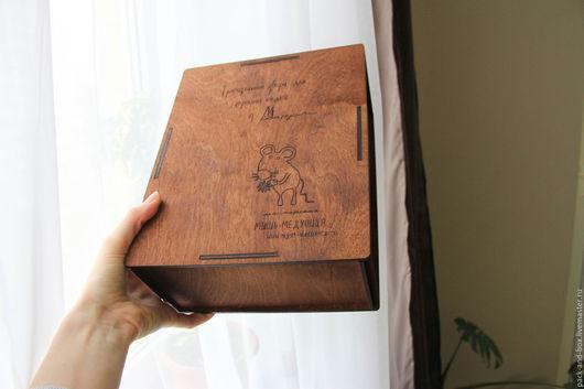 Упаковка ручной работы. Ярмарка Мастеров - ручная работа. Купить Деревянная коробка для кукол / игрушек. Handmade. Коричневый, коробочка