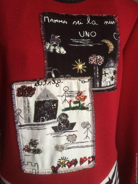 Одежда для девочек, ручной работы. Ярмарка Мастеров - ручная работа. Купить Платье ПЛТ 1031. Handmade. Ярко-красный
