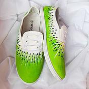 Обувь ручной работы handmade. Livemaster - original item Sneakers women`s painted