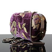 Сумки и аксессуары handmade. Livemaster - original item Velvet clutch box, amethyst. Handmade.