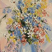 Картины и панно handmade. Livemaster - original item oil painting flowers. Handmade.