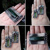 Украшения handmade. Livemaster - original item Set of silver with jade. Silver set.. Handmade.